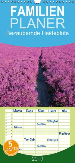 Bezaubernde Heideblüte – Familienplaner hoch (Wandkalender 2019 , 21 cm x 45 cm, hoch) von Valentino,  Bo