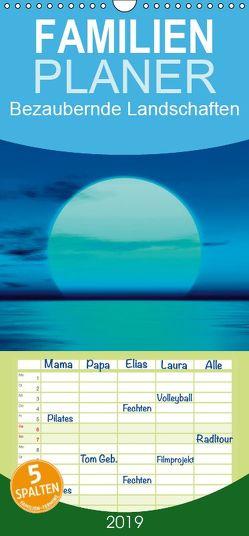 Bezaubernde Landschaften – Familienplaner hoch (Wandkalender 2019 , 21 cm x 45 cm, hoch) von Gann (magann),  Markus
