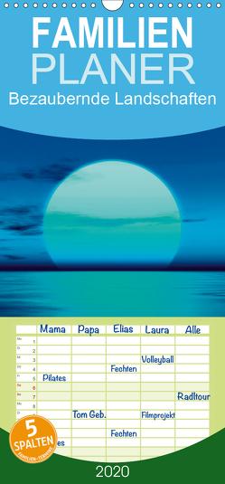 Bezaubernde Landschaften – Familienplaner hoch (Wandkalender 2020 , 21 cm x 45 cm, hoch) von Gann (magann),  Markus