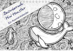 Bezaubernde Mini-Monster – Ein Ausmal-Kalender (Tischkalender 2019 DIN A5 quer) von Zabel,  Benita