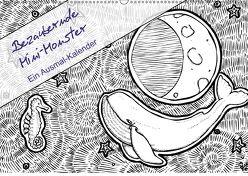 Bezaubernde Mini-Monster – Ein Ausmal-Kalender (Wandkalender 2018 DIN A2 quer) von Zabel,  Benita