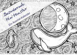 Bezaubernde Mini-Monster – Ein Ausmal-Kalender (Wandkalender 2019 DIN A3 quer)