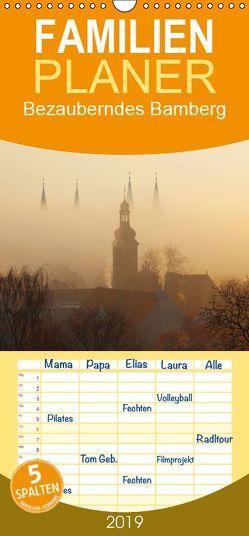 Bezauberndes Bamberg – Familienplaner hoch (Wandkalender 2019 , 21 cm x 45 cm, hoch) von Doerk,  Wiltrud