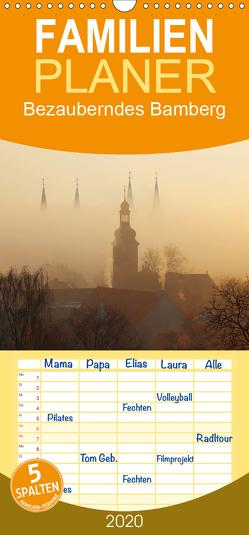 Bezauberndes Bamberg – Familienplaner hoch (Wandkalender 2020 , 21 cm x 45 cm, hoch) von Doerk,  Wiltrud
