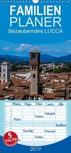 Bezauberndes Lucca – Familienplaner hoch (Wandkalender 2019 , 21 cm x 45 cm, hoch) von Hampe,  Gabi