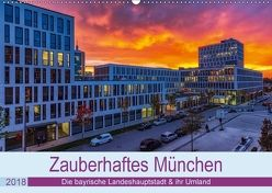 Bezauberndes München – Die bayrische Landeshauptstadt und ihr Umland. (Wandkalender 2018 DIN A2 quer) von Kelle,  Stephan