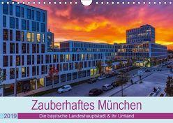 Bezauberndes München – Die bayrische Landeshauptstadt und ihr Umland. (Wandkalender 2019 DIN A4 quer) von Kelle,  Stephan