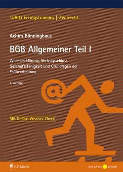 BGB Allgemeiner Teil I von Bönninghaus,  Achim