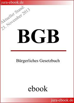 BGB – Bürgerliches Gesetzbuch – Aktueller Stand: 23. November 2013