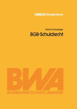 BGB-Schuldrecht von Klunzinger,  Eugen