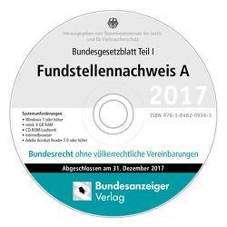 BGBL Fundstellennachweis A 2017 CD-ROM