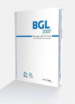 BGL Baugeräteliste 2007