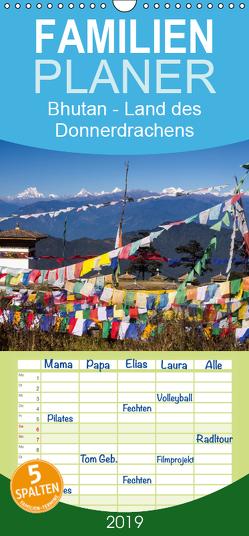 Bhutan – Land des Donnerdrachens – Familienplaner hoch (Wandkalender 2019 , 21 cm x 45 cm, hoch) von Rusch - www.w-rusch.de,  Winfried
