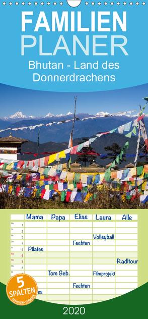 Bhutan – Land des Donnerdrachens – Familienplaner hoch (Wandkalender 2020 , 21 cm x 45 cm, hoch) von Rusch - www.w-rusch.de,  Winfried