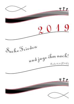 Bibel Kalender 2019 A2 von Rene,  Braune
