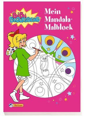 Bibi Blocksberg: Mein Mandala-Malblock von Kiddinx Media GmbH, Rudolph,  Imke