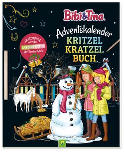 Bibi & Tina Adventskalender Kritzel-Kratzel-Buch von Lindenroth,  Nicole