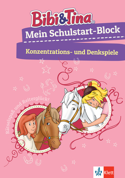 Bibi & Tina: Mein Schulstart-Block Konzentrations- und Denkspiele