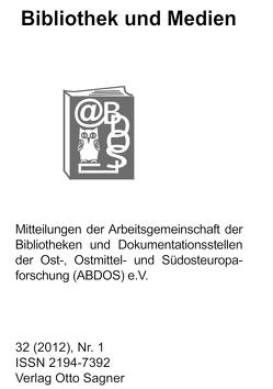 Bibliothek und Medien 32 (2012). Nr. 1