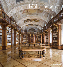 Bibliotheken 2022 – Wand-Kalender – Foto-Kalender – 45×48 – Bücher