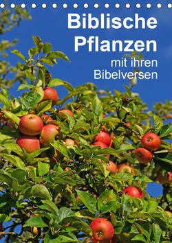 Biblische Pflanzen mit ihren Bibelversen (Tischkalender 2021 DIN A5 hoch) von Vorndran,  Hans-Georg