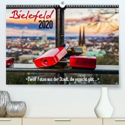 Bielefeld. 12 Fotos aus der Stadt, die es nicht gibt … (Premium, hochwertiger DIN A2 Wandkalender 2020, Kunstdruck in Hochglanz) von Dumcke,  Rico