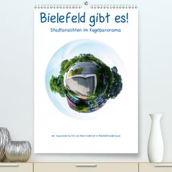 Bielefeld gibt es! Stadtansichten im Kugelpanorama (Premium, hochwertiger DIN A2 Wandkalender 2021, Kunstdruck in Hochglanz) von Schwarzer,  Kurt