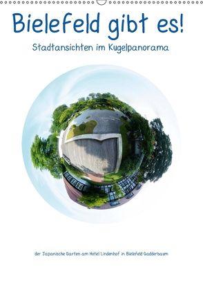 Bielefeld gibt es! Stadtansichten im Kugelpanorama (Wandkalender 2018 DIN A2 hoch) von Schwarzer,  Kurt