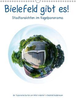 Bielefeld gibt es! Stadtansichten im Kugelpanorama (Wandkalender 2018 DIN A3 hoch) von Schwarzer,  Kurt