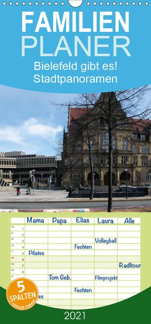 Bielefeld gibt es! Stadtpanoramen – Familienplaner hoch (Wandkalender 2021 , 21 cm x 45 cm, hoch) von Schwarzer,  Kurt