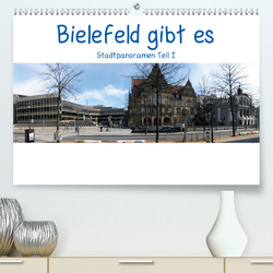 Bielefeld gibt es! Stadtpanoramen (Premium, hochwertiger DIN A2 Wandkalender 2021, Kunstdruck in Hochglanz) von Schwarzer,  Kurt