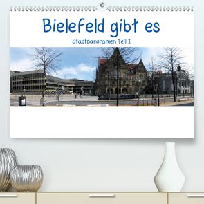 Bielefeld gibt es! Stadtpanoramen (Premium, hochwertiger DIN A2 Wandkalender 2020, Kunstdruck in Hochglanz) von Schwarzer,  Kurt