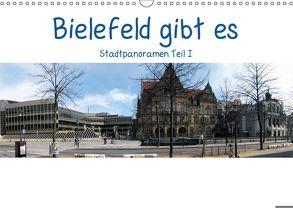 Bielefeld gibt es! Stadtpanoramen (Wandkalender 2018 DIN A3 quer) von Schwarzer,  Kurt