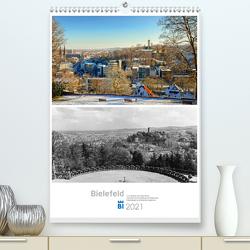 Bielefelder Fotomotive heute und damals mit historischen Ereignissen (Premium, hochwertiger DIN A2 Wandkalender 2021, Kunstdruck in Hochglanz) von Kloss,  Wolf