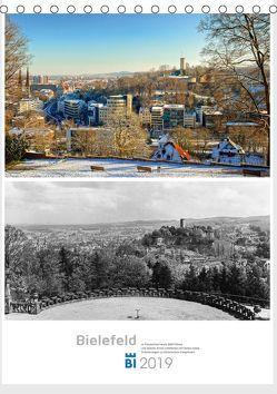 Bielefelder Fotomotive heute und damals mit historischen Ereignissen (Tischkalender 2019 DIN A5 hoch) von Kloss,  Wolf