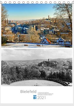 Bielefelder Fotomotive heute und damals mit historischen Ereignissen (Tischkalender 2021 DIN A5 hoch) von Kloss,  Wolf