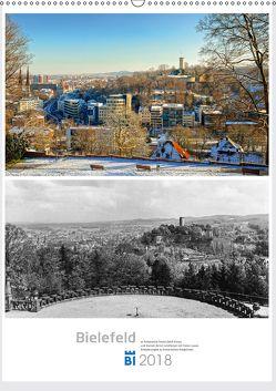 Bielefelder Fotomotive heute und damals mit historischen Ereignissen. (Wandkalender 2018 DIN A2 hoch) von Kloss,  Wolf