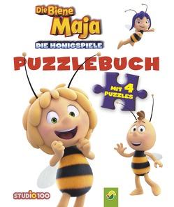 Biene Maja Die Honigspiele Puzzlebuch von Steinfeld,  Lena