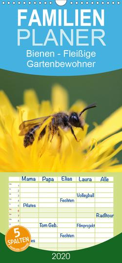 Bienen – Fleißige Gartenbewohner – Familienplaner hoch (Wandkalender 2020 , 21 cm x 45 cm, hoch) von Hahnefeld,  Silvia