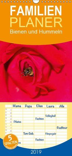 Bienen und Hummeln – Familienplaner hoch (Wandkalender 2019 , 21 cm x 45 cm, hoch) von Bangert,  Mark