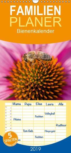 Bienenkalender – Familienplaner hoch (Wandkalender 2019 , 21 cm x 45 cm, hoch) von Bangert,  Mark