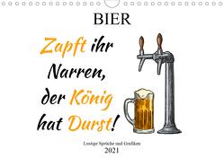 Bier – Lustige Sprüche und Grafiken (Wandkalender 2021 DIN A4 quer) von Stock und Boom Manufaktur@Spreadshirt,  pixs:sell@Adobe