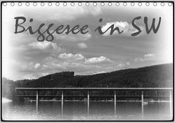 Biggesee in Schwarz-Weiß (Tischkalender 2019 DIN A5 quer) von Eckert,  Ralf