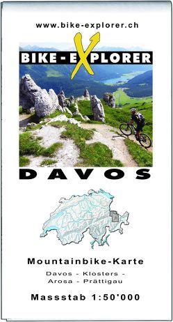 BIKE-EXPLORER Karte Davos von Schierle,  Michelle
