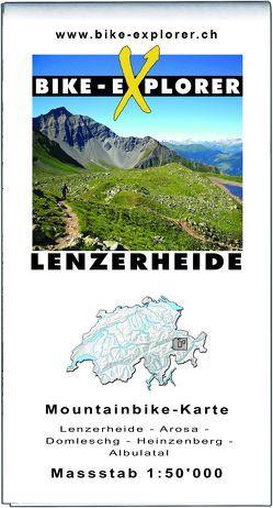 BIKE-EXPLORER Karte Lenzerheide von Schierle,  Michelle