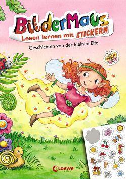 Bildermaus – Lesen lernen mit Stickern – Geschichten von der kleinen Elfe von Broska,  Elke, Gehm,  Franziska, Labuch,  Kristin