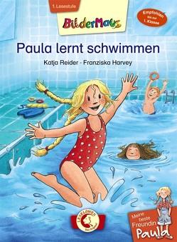 Bildermaus – Meine beste Freundin Paula: Paula lernt schwimmen von Harvey,  Franziska, Reider,  Katja