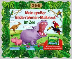 Bilderrahmen-Malblock: Im Zoo