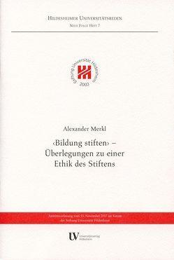 """""""Bildung stiften"""" von Merkl,  Alexander"""
