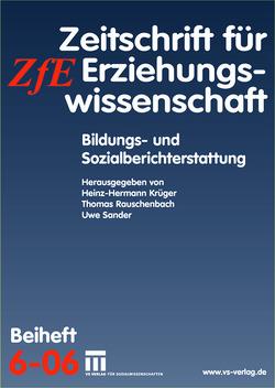 Bildungs- und Sozialberichterstattung von Krüger,  Heinz Hermann, Rauschenbach,  Thomas, Sander,  Uwe